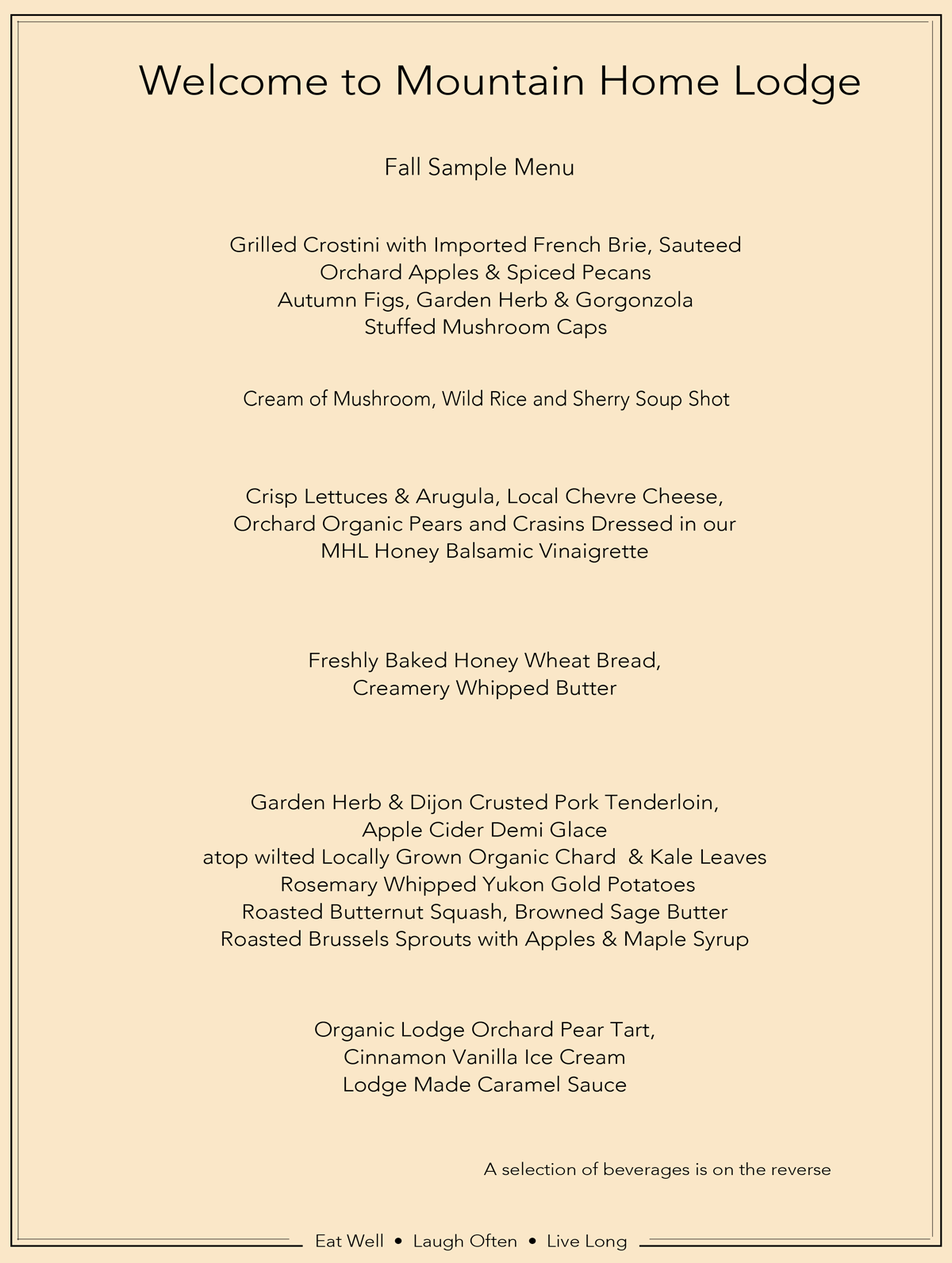 mountain home lodge menu images - Maple Garden Menu