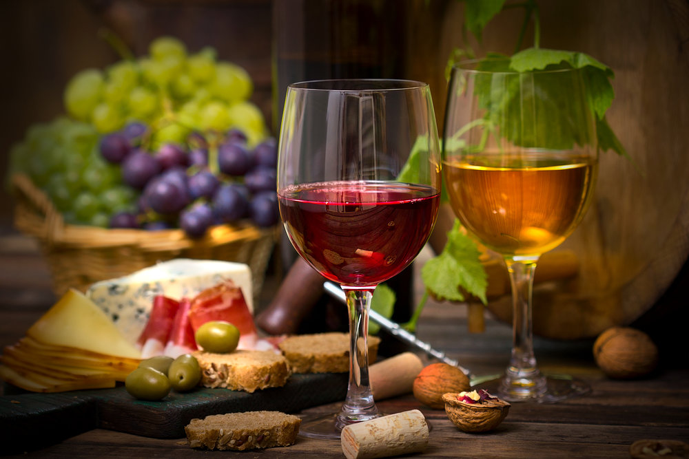 Wine & Appetizers - Custom complimentary appetizers served to your private table.
