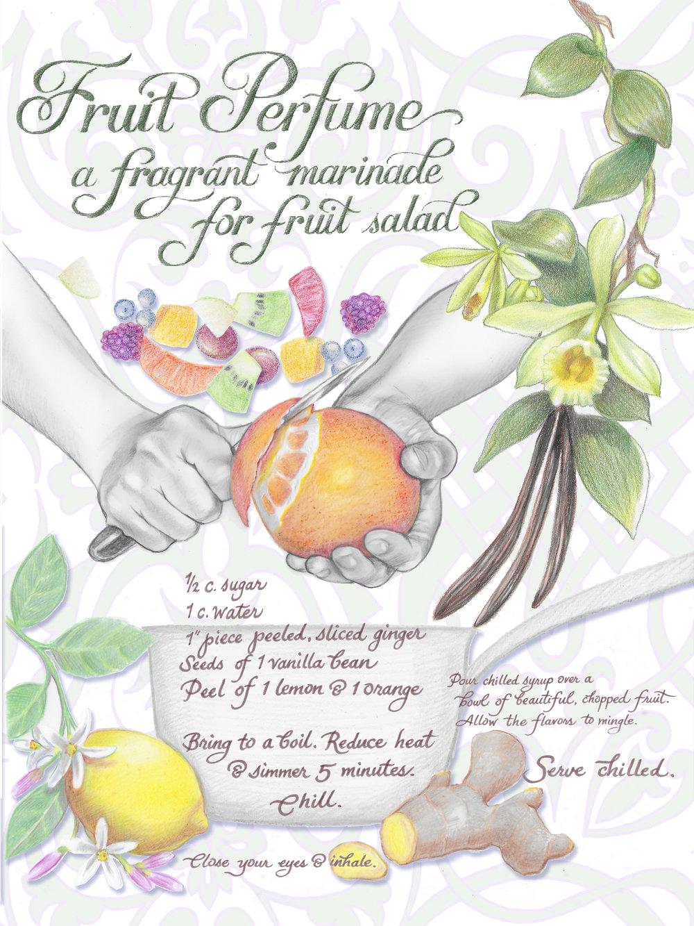Illustrated Recipe - Fruit Perfume