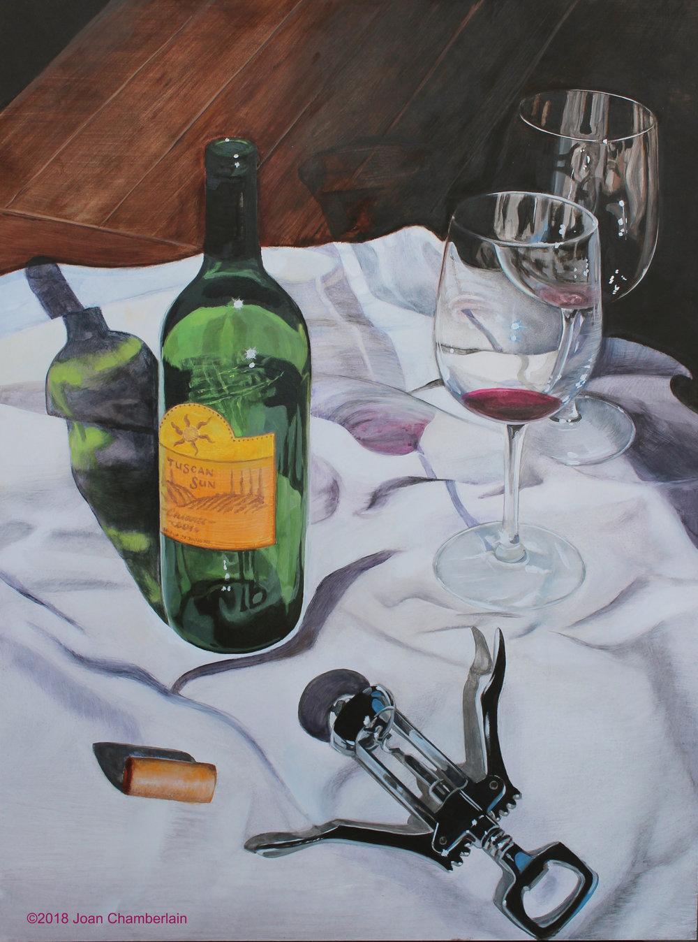 Tuscan Sun - Acrylic on panel, 24