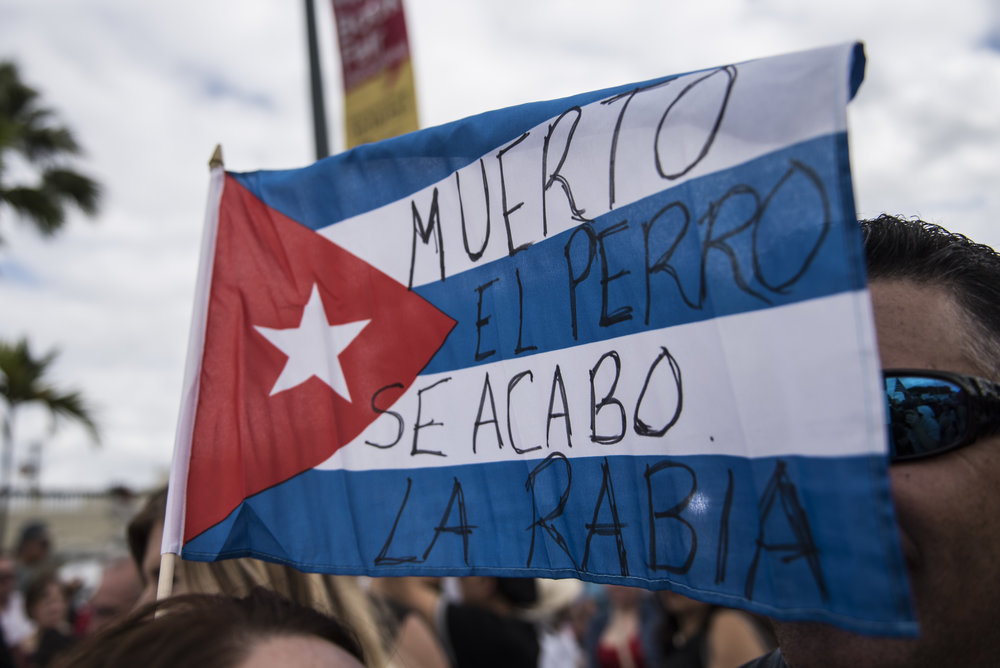 "A good ol' Cuban saying to celebrate --- ""Muerto el perro se acabo la rabia,"" roughly translates to ""once the dog is dead, that's the end of the rabies."""