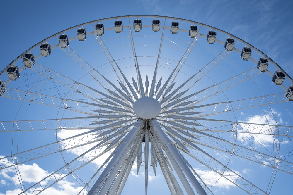 The ferris wheel that looks over the Falls in Niagara Falls, Ontario, Canada.