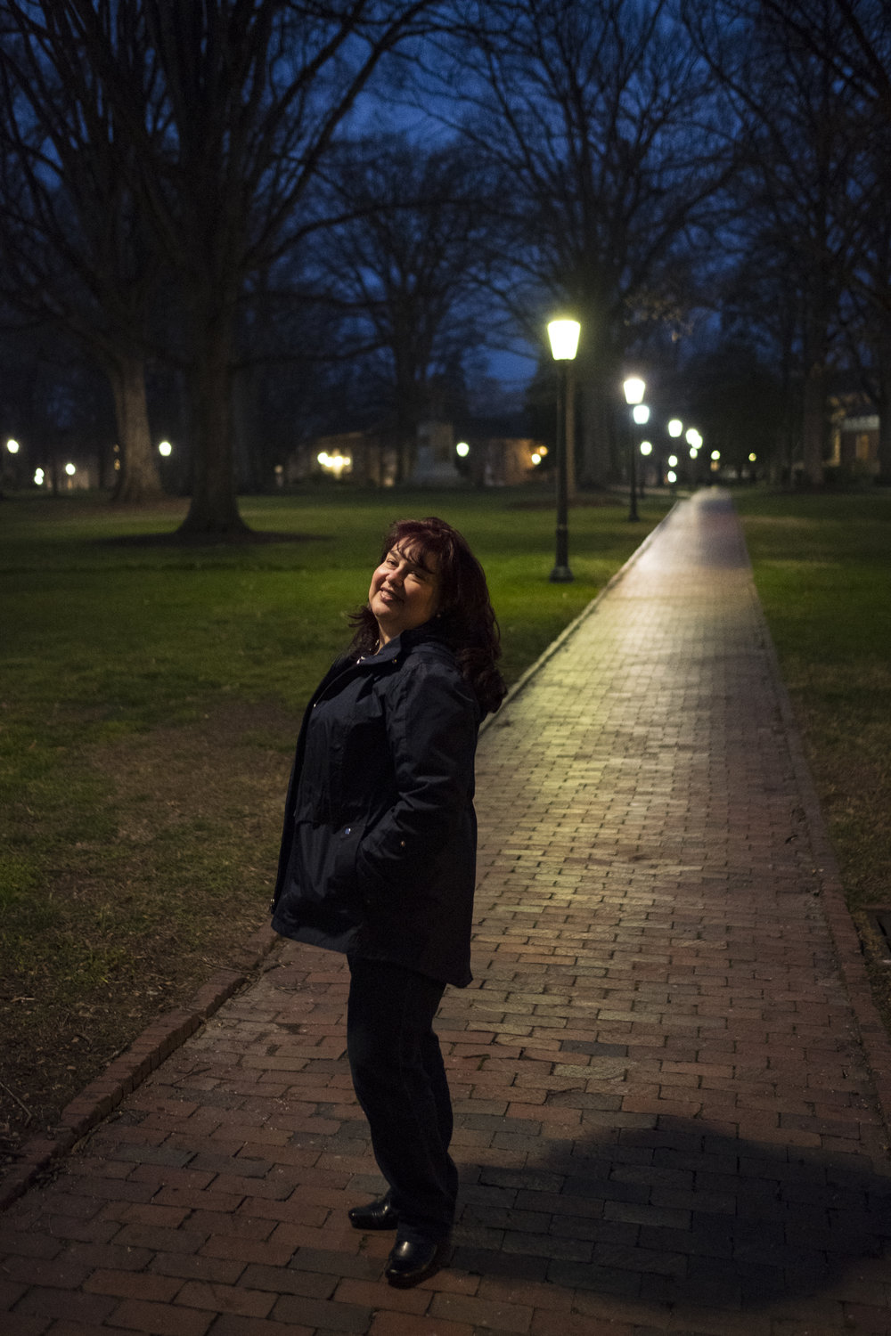 My beautiful momma who helped me see 10 apartments in two days. Here she poses for a portrait at the UNC campus.