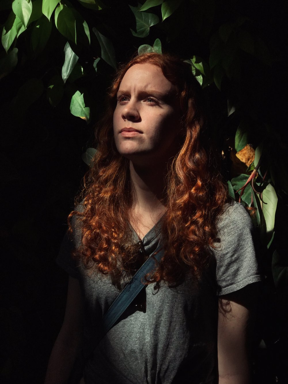 Visual Storyteller Abby Cantrell ( @abbycantrell ) stands in nice mall light for a portrait before our shoot.