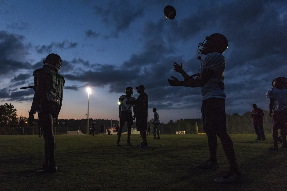 Hurricane Florence forced schools in the Triangle area to  move up their Friday night games  to Wednesday. This means that teams only had two days to prepare for their upcoming game.