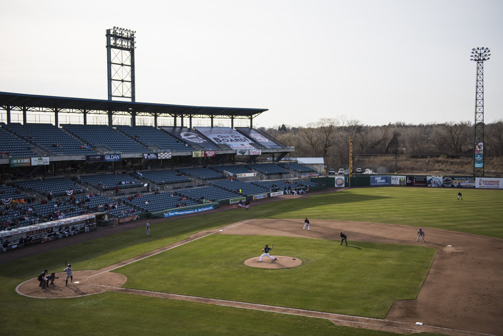 The Syracuse Chiefs play at NBT Bank Stadium in Syracuse, New York. Though the stadium's capacity is 11,071, the Chiefs averaged 4,157 fans per game.