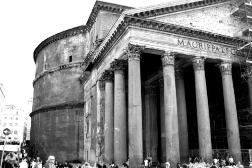 """The Pantheon in Rome. Built 2000 years ago, it's  a massive dome of poured concrete. Much was lost in the fall of the Roman Empire including information on how they did it.  The ingenuity is something that should have come out of the Renaissance, but came 1400 years prior. I love that building because it represents so much history, but it's as much about something inside us that is connected, creative and carrying us into the future with curiosity."" - Tamara"