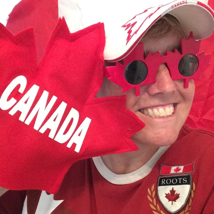 """Go Canada Go - I love cheering for any of our amazing Canadian athletes!"""
