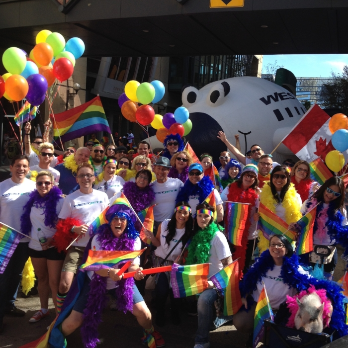 """How incredible to now be in the Calgary Pride Parade that I helped coordinate for 10 years!! Love it all!"""