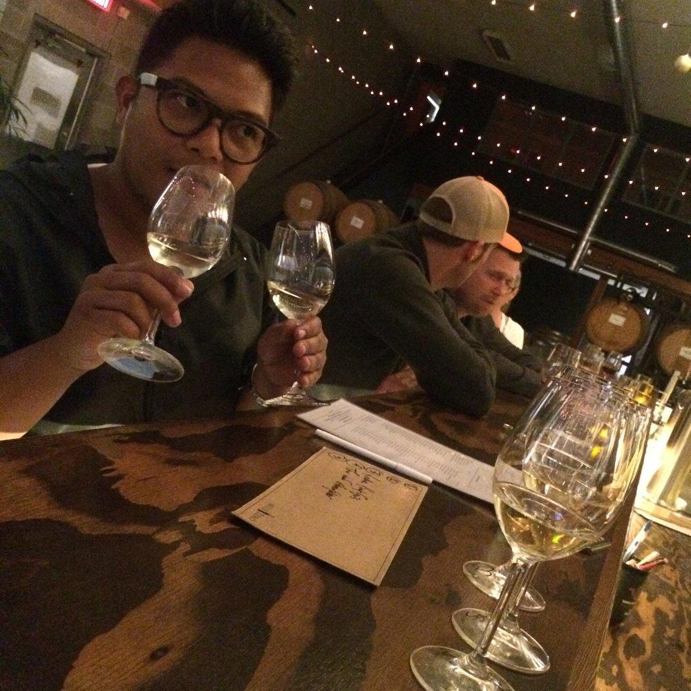 --- Wine tasting at  MileZero Wine Bar,  Penticton. ---