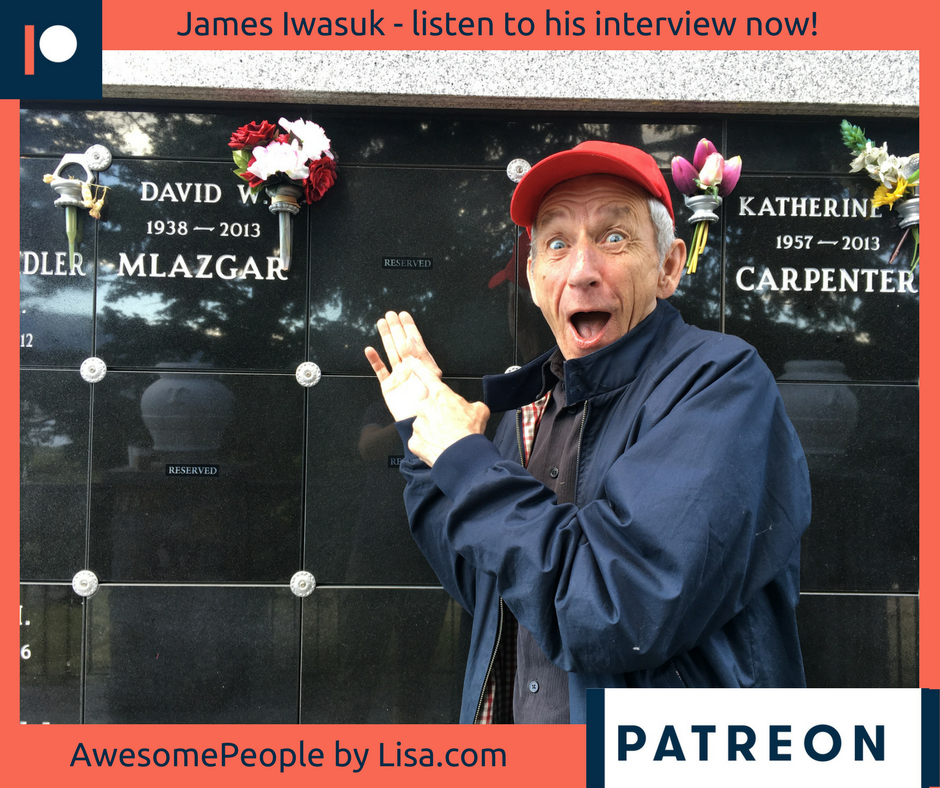 James is a funny guy….he can be serious as well but for most of this interview he makes me laugh out loud!!  James is an actor, both stage and film, a stand up comic and a Poet. In fact I had James recite five poems for this interview and I've interspersed them throughout our chat.
