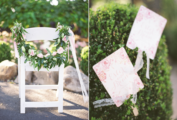 Aren't the garlands on the ceremony chairs just darling?