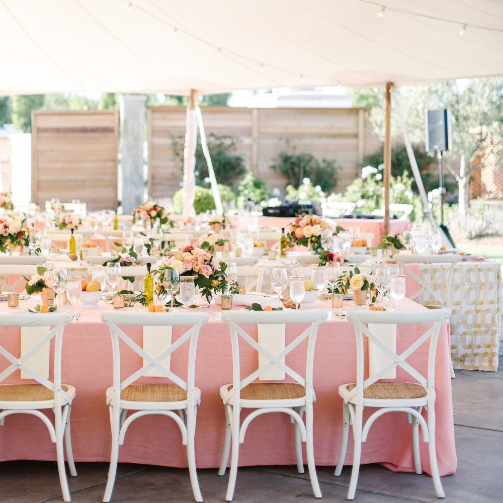 STYLE ME PRETTY | COLORFUL TENTED, SONOMA WEDDING