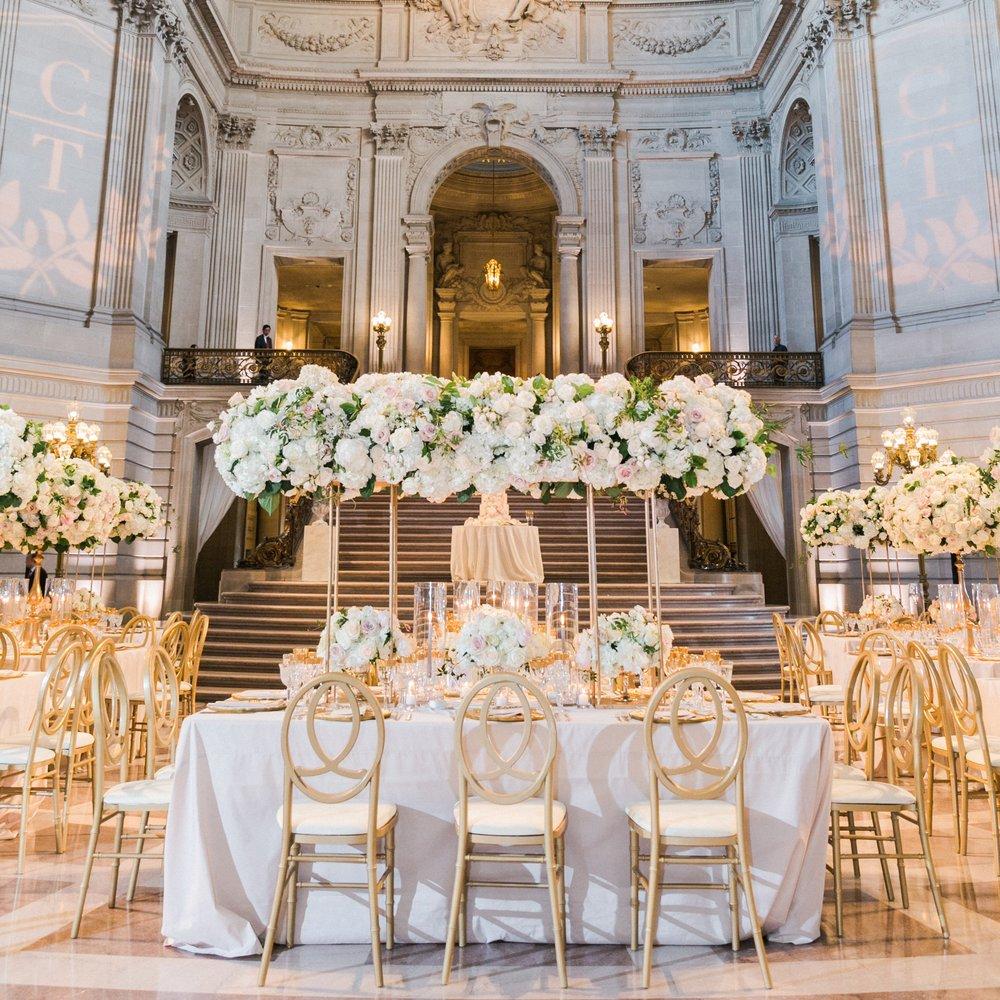 THE KNOT | ROMANTIC BLACK TIE WEDDING IN SAN FRANCISCO