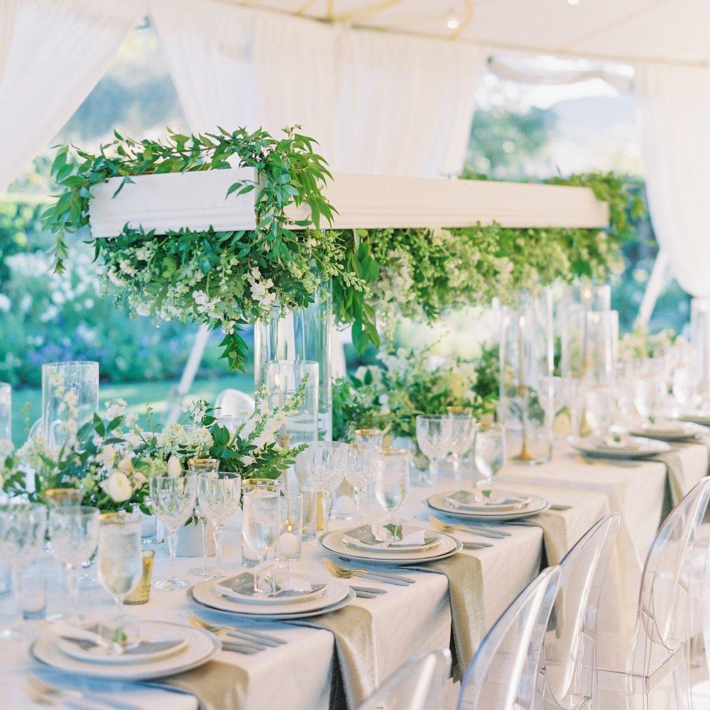 MODERN, GREEN AND WHITE SONOMA WEDDING