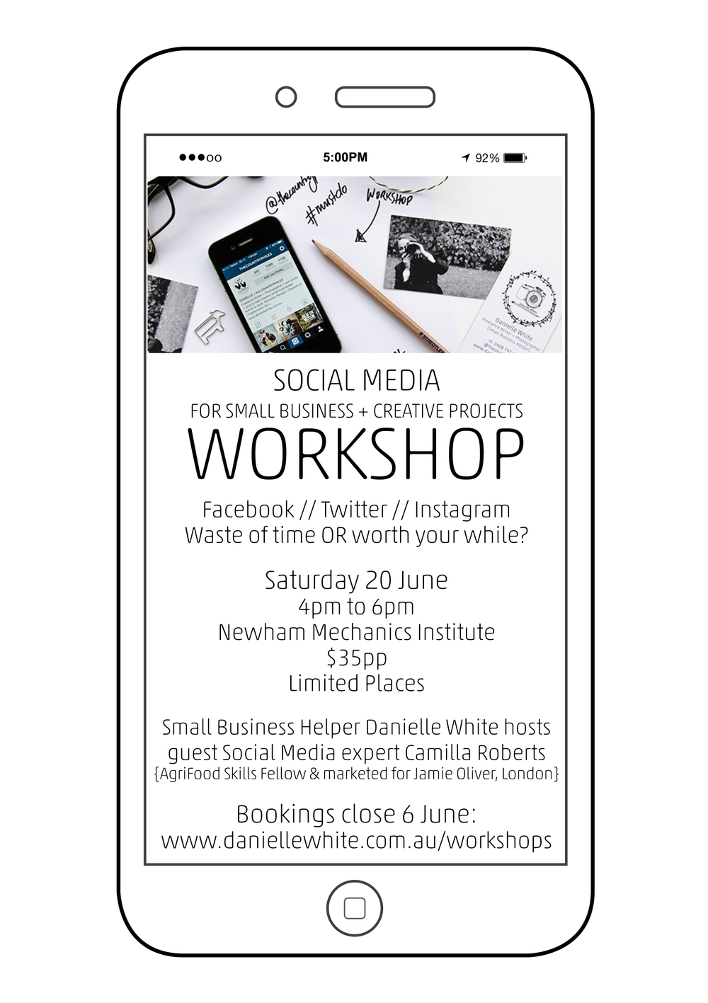 workshop  social media  june 2015