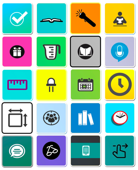 Hypothetical Mobile App Icons