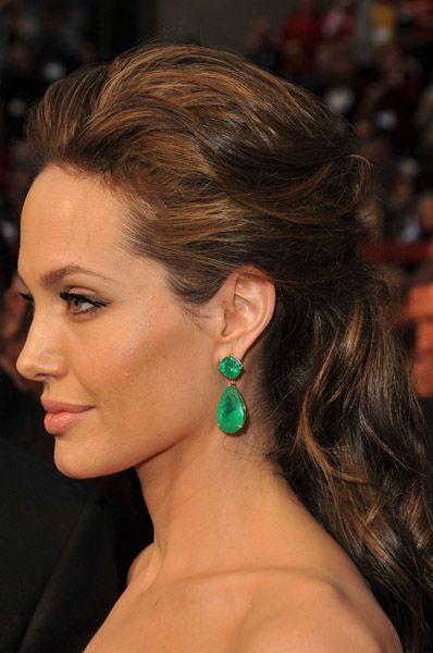 Angelina Jolie Emerald Earrings
