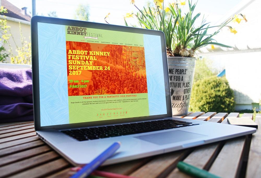 Abbot Kinney Festival Website by Czebra Studios