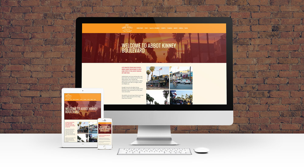 "Website Design, Development and ongoing maintenance for Abbot Kinney Boulevard Merchants Association in Venice, California. Site includes a merchant directory of 150+ businesses, events listings and info on visiting  the ""hippest street in America"" (GQ Magazine). Visit the site at abbotkinneyblvd.com"