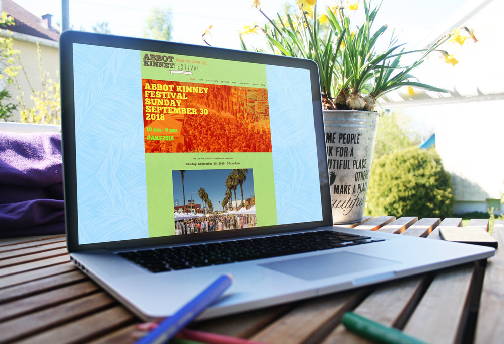 Website Design, Development and ongoing maintenance (since 2014) for Abbot Kinney Festival, one of the largest street festivals in Southern California. Visit the site at  abbotkinney.org