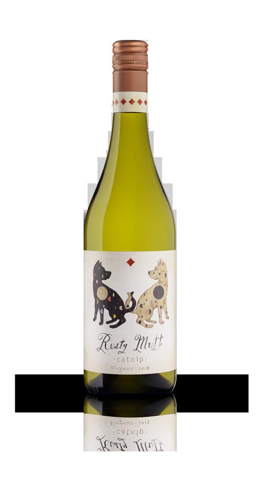 Bottle of Rusty Mutt Catnip Viognier