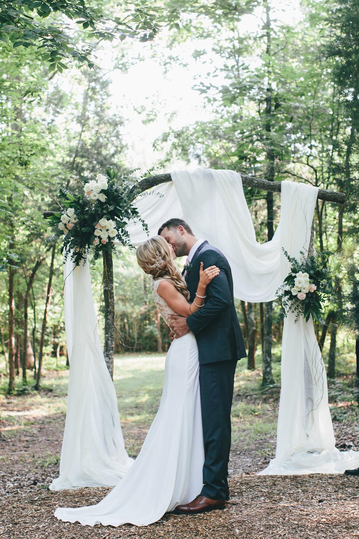 wedding in the woods ceremony