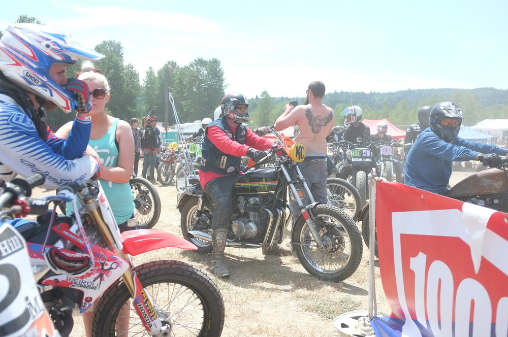 Norm from Motorcycho Magazine was there... full-force.