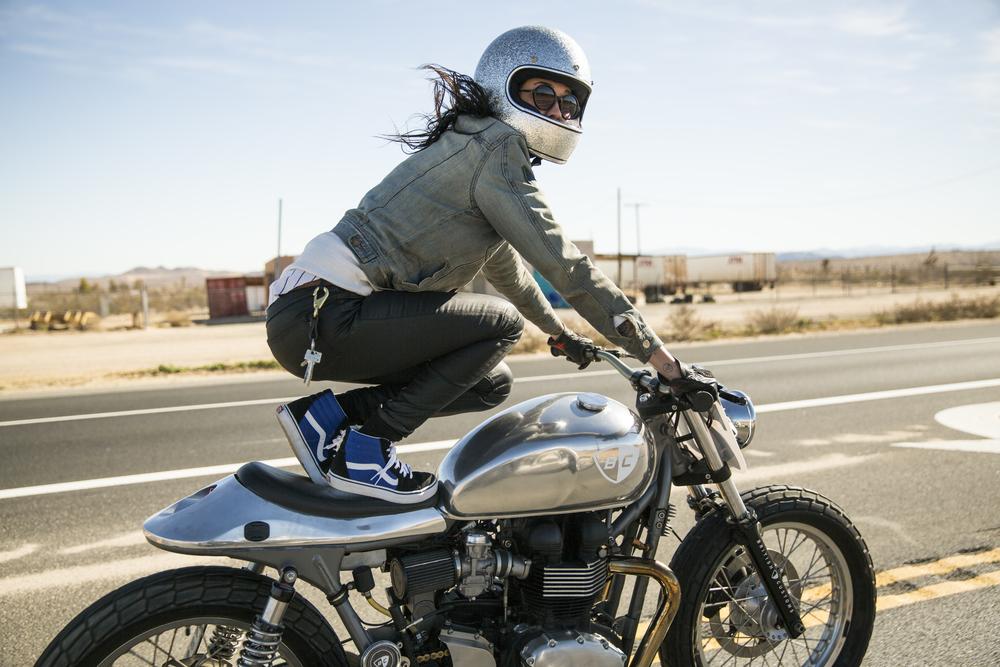 Women's Moto Exhibit Photo of Becky Goebel