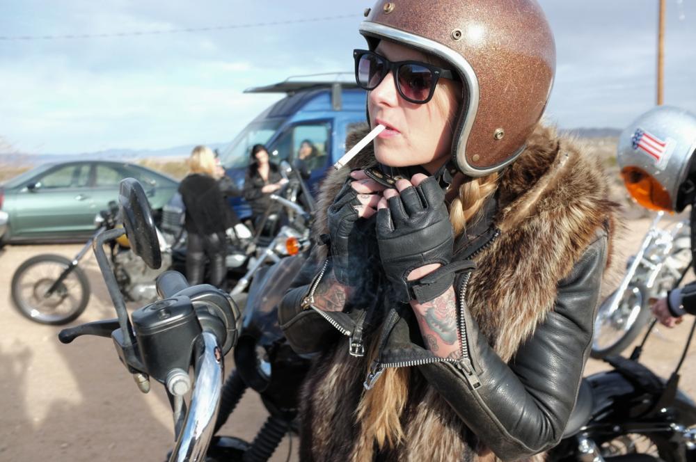 Leather mama Brooke Worrel