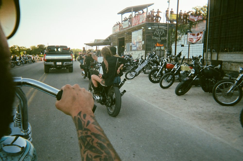 Disposable Camera shot - rolling into Giddy Up
