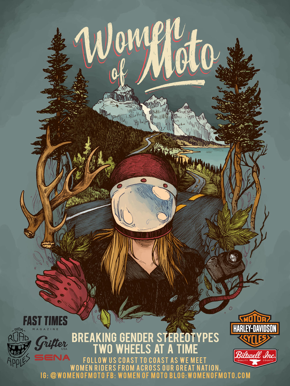 Women of Moto Poster made by Amanda @blindthistle