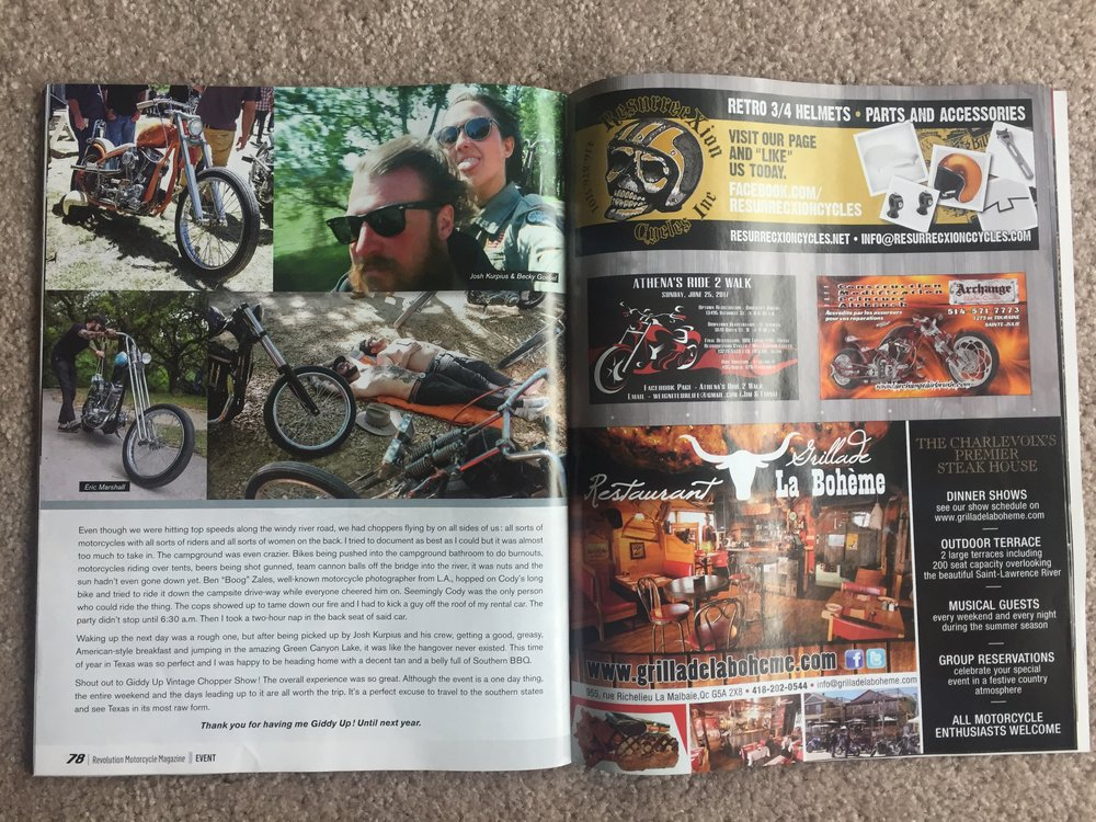 Revolution Motorcycle Magazine: Becky Goebel