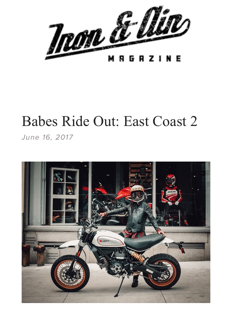 "Iron & Air ""THROTTLE"" newsletter screenshot"