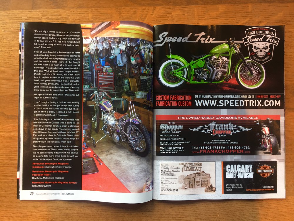 Thom Jones Revolution Motorcycle Magazine