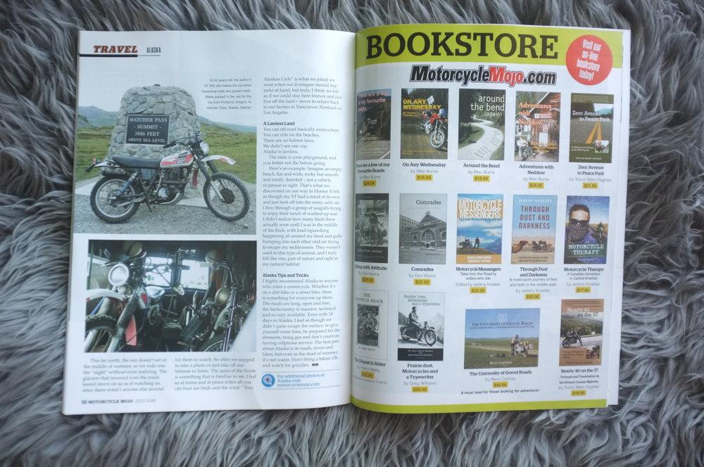 Motorcycle Mojo Magazine // Becky Goebel