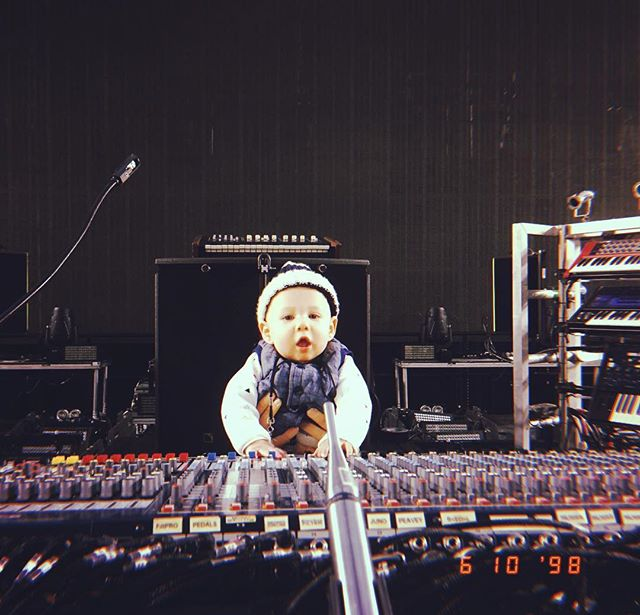 New sound check appreciate smashing it! 👶🏼🎤🎧