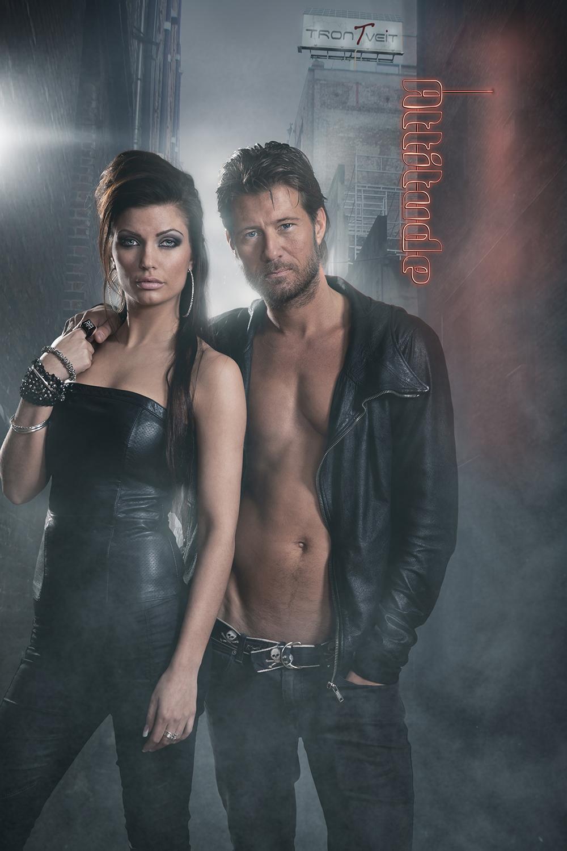 Reklamebillede for hårproduktfirmaet Attitude by Trontveit med Frederik Fetterlein