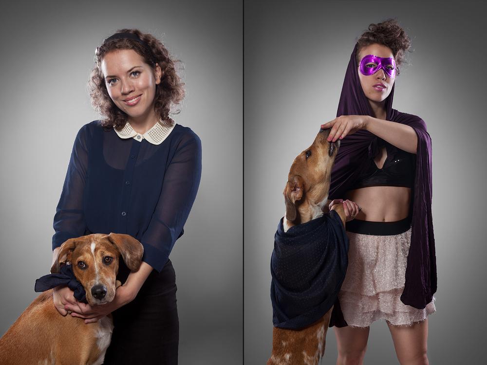 Heidi Keller og hund