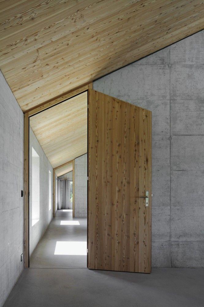Asymmetric wooden door