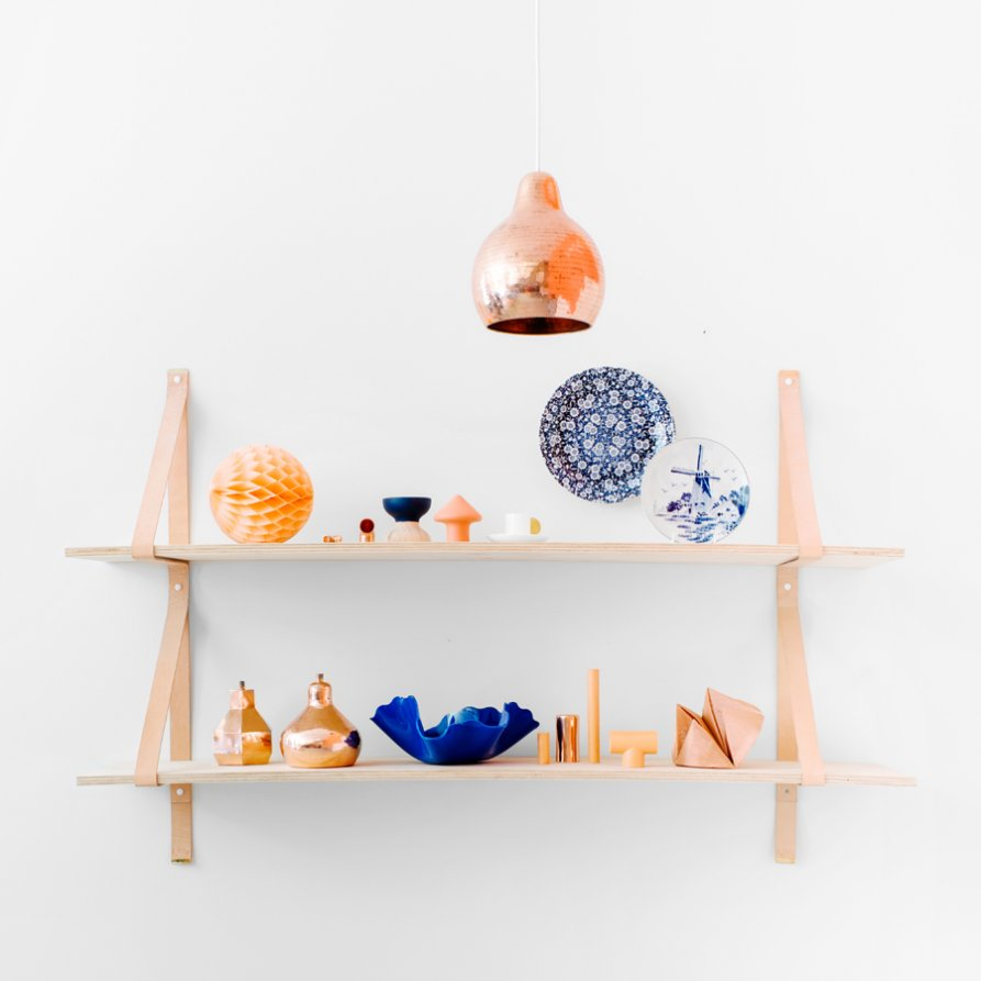 Assemblages Leather Shelves from Lightly