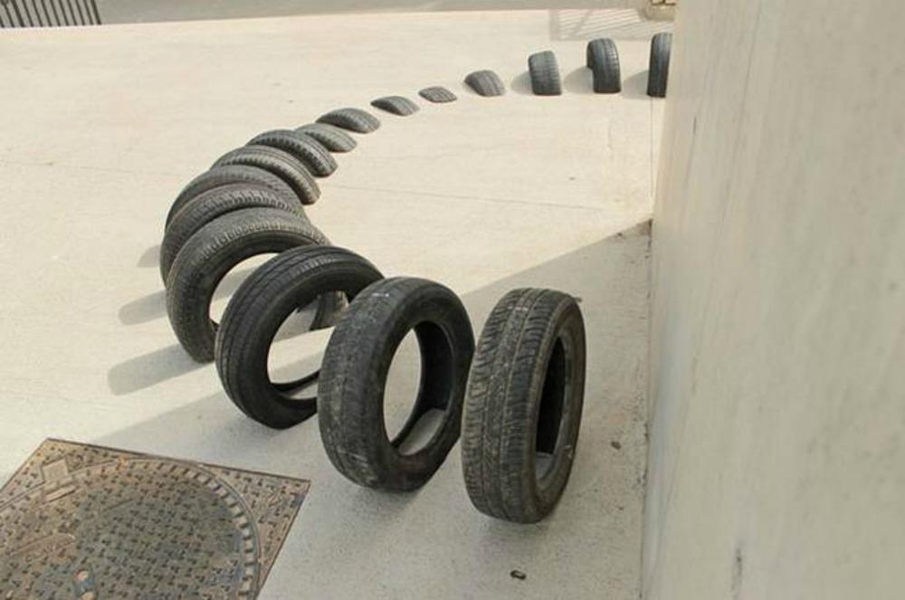 Barcelona-tyre-art