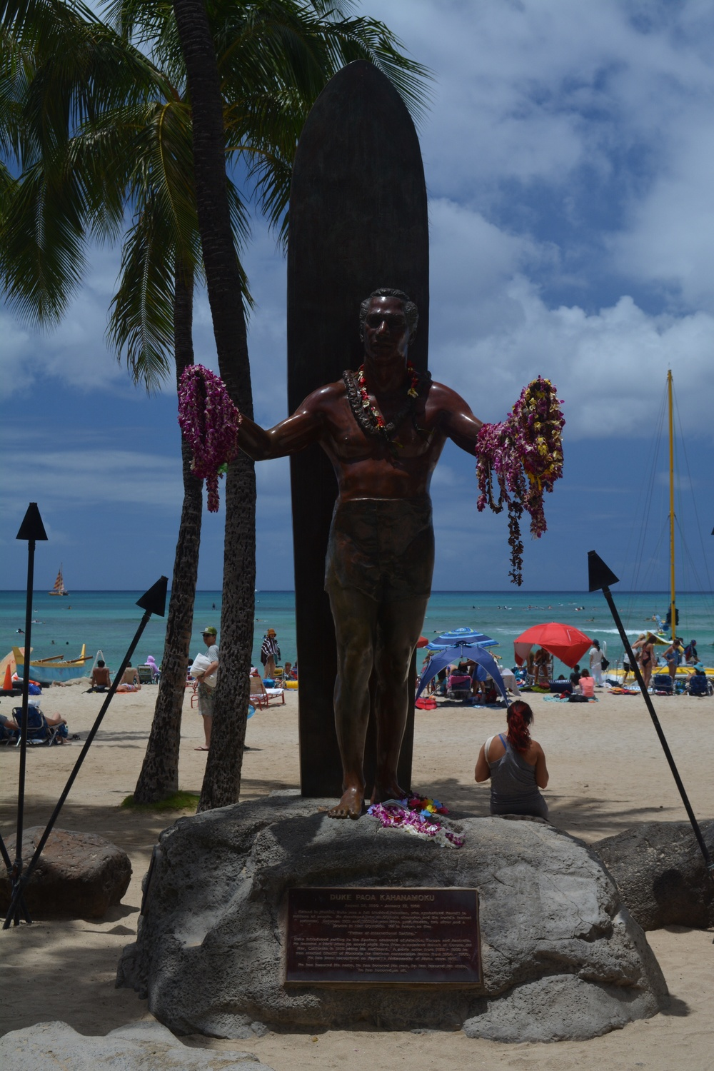The Duke - the father of modern surfing - standing guard at Waikiki beach