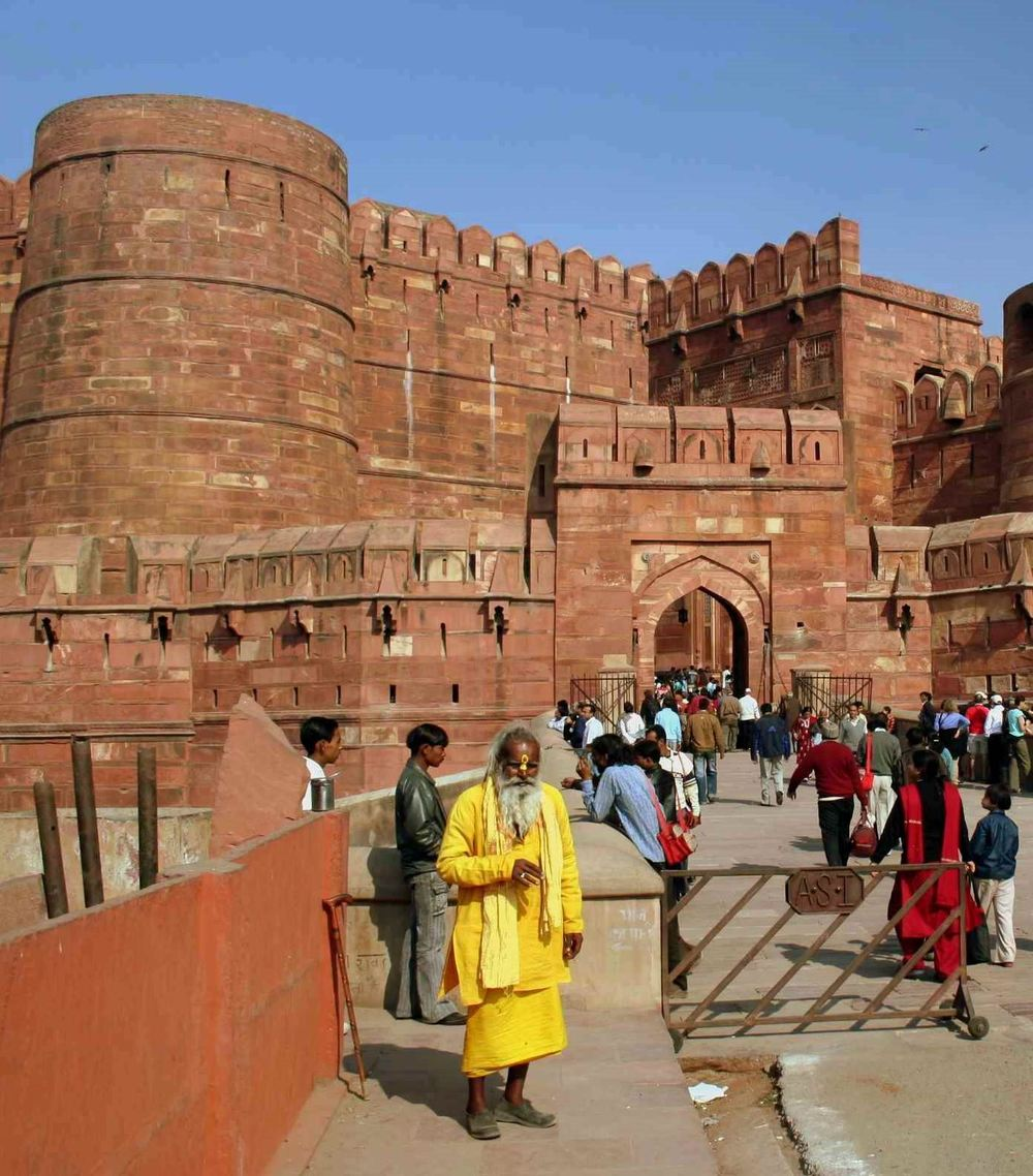 The press of people at the Red Fort, Delhi includes everyone from local holymen to travellers from every nation under the sun