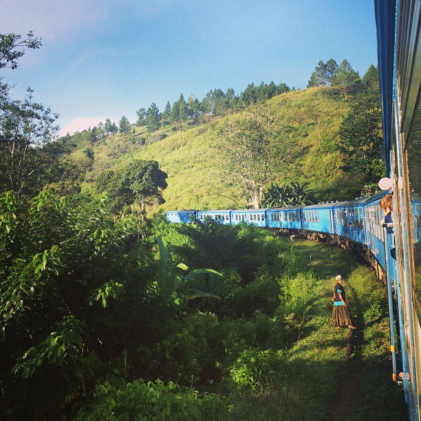 The glorious views out the train window in the Sri Lankan hill stations