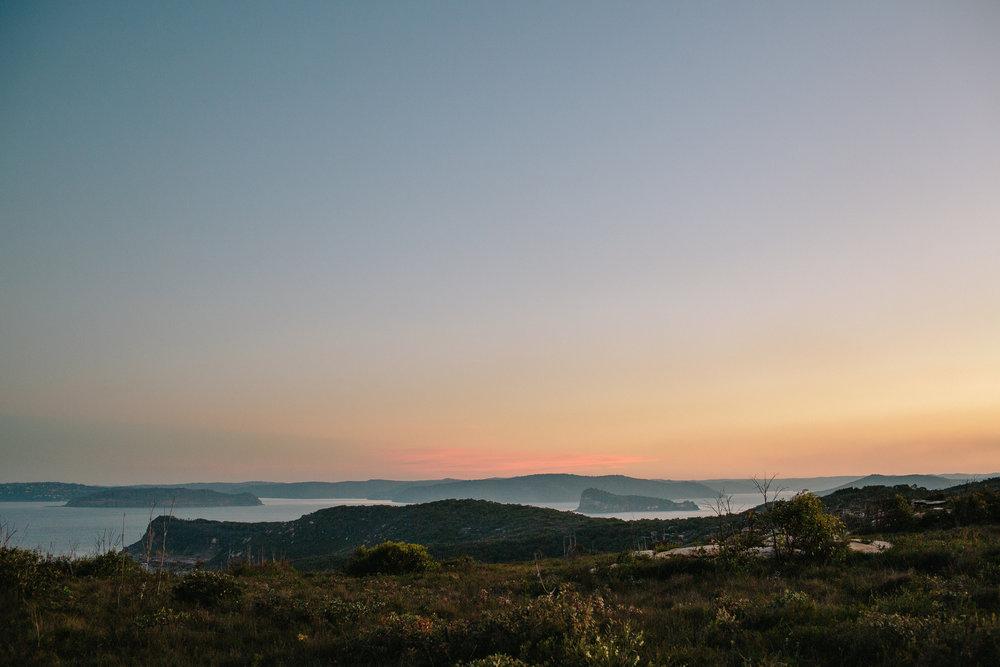 Wintry sunset