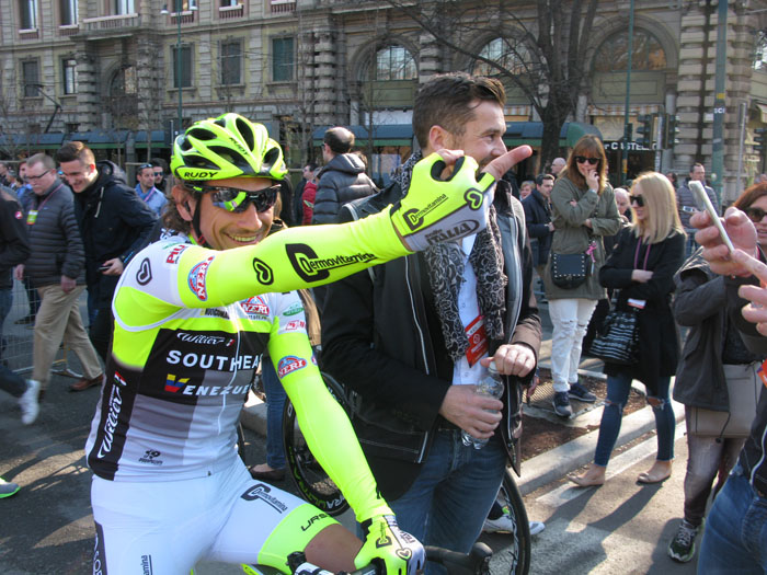 Ten years after his win at Milano-Sanremo, Pippo Pozatto is still one of Italy's most popular riders