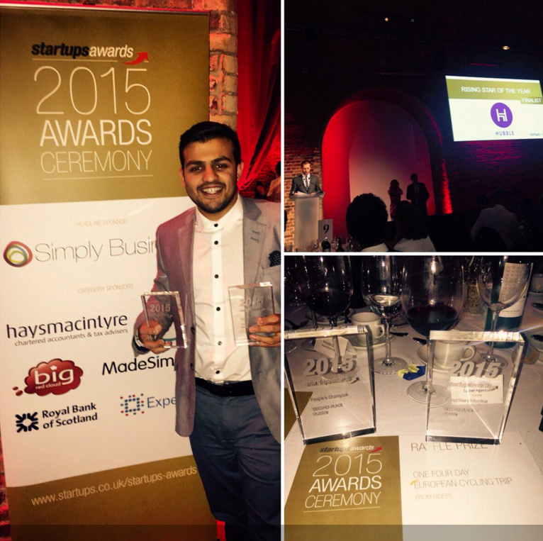 We are so pleased to see Hubble placing for People's Champion and Rising Star of Year at  Startups Awards  2015 Awards Ceremony! Well done!