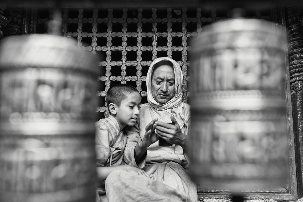 New Technology in Swayambhu Chaitya (Kathmandu/ Nepal) - Copyright: Daniel Hofmann