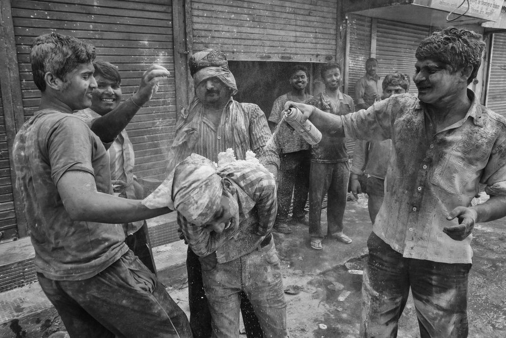 Holi Festival in Mathura India Reportage Photography